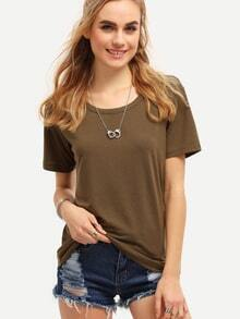 Army Green Short Sleeve T-shirt