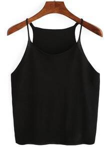 Black Knitted Cami Top
