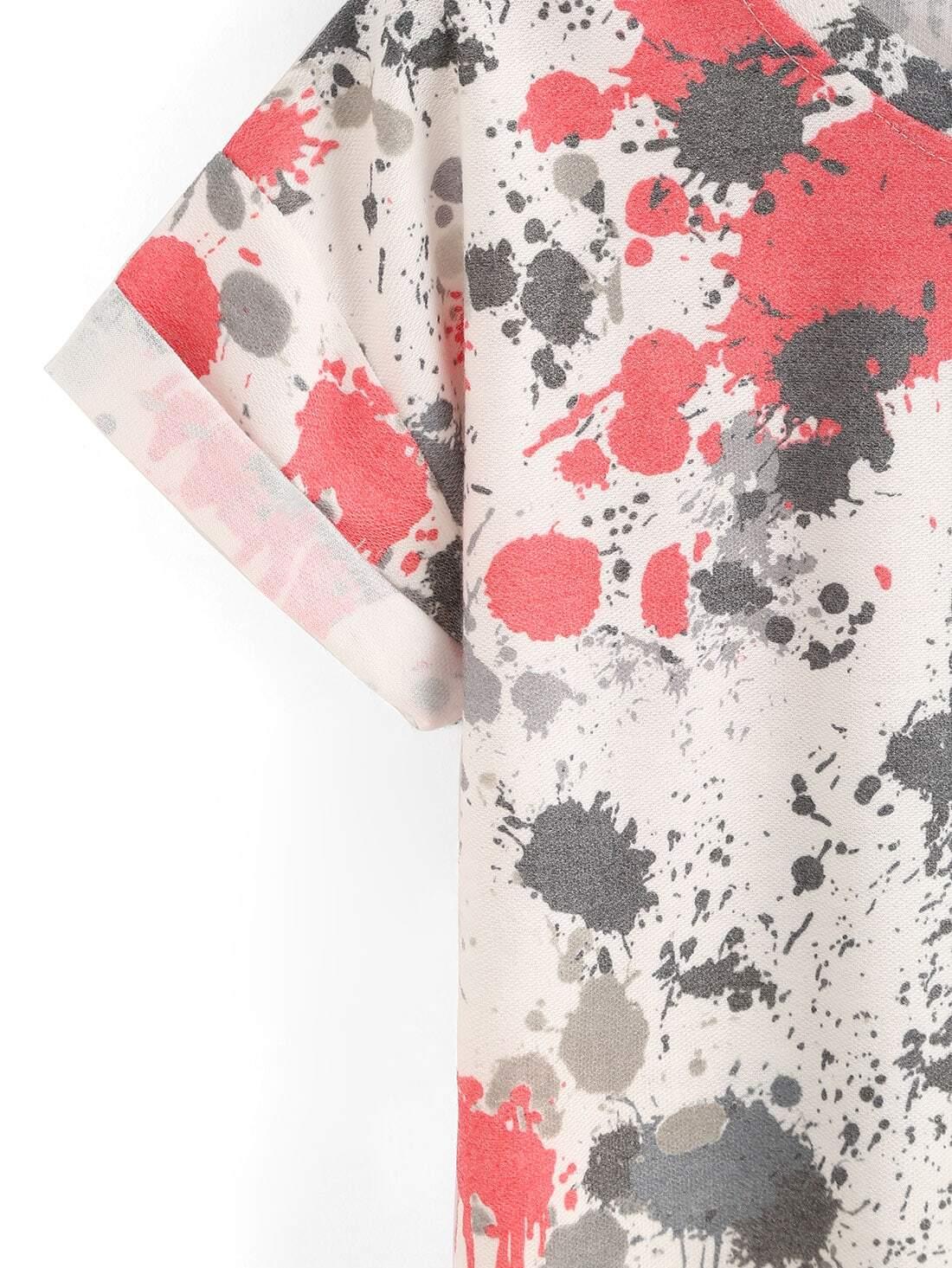 Camiseta estampada de pintura en aerosol con manga - Pintura para camisetas ...