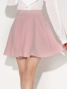 Box Pleated Short Skirt