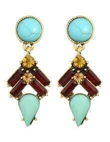Colorful Gemstone Women Earrings