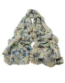 Green Soft Long Scarf for Ladies