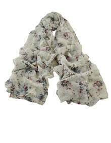 White Soft Long Scarf for Ladies