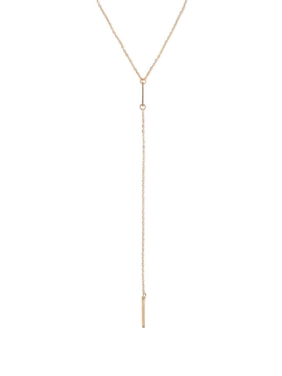 Золото Линейных Geomectric Минималистский Ожерелье