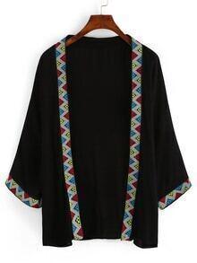 Geometric Embroidery Cotton Kimono