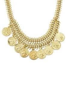 Collar colgante de monedas -dorado