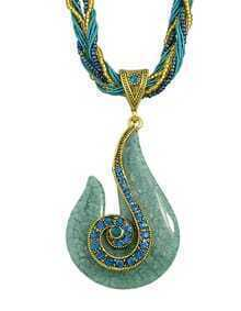 Lakeblue Beads Chain Pendant Necklace