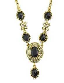 Black Gemstone Women Necklace