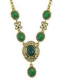 Green Gemstone Women Necklace