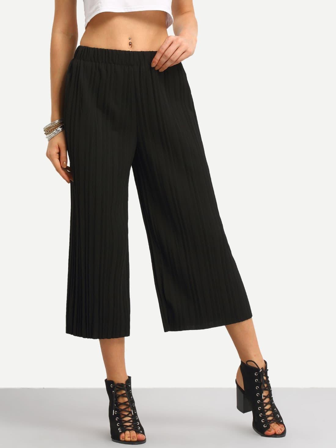 Pleated Wide Leg Pants pant160420103