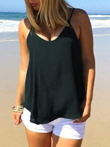Caged Chiffon Cami Top