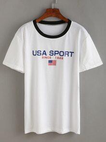 T-shirt motif drapeau américain