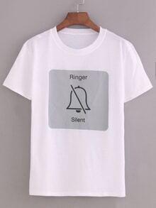 Ringer Silent Print T-shirt