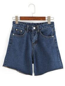 Wide Leg Denim Shorts
