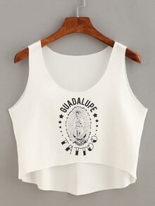 Our Lady of Guadalupe Print Tank Top