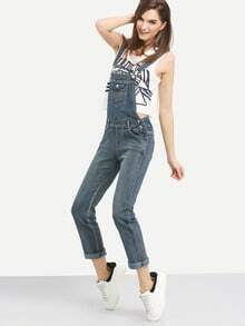 Flap Pocket Bib Overall Jeans