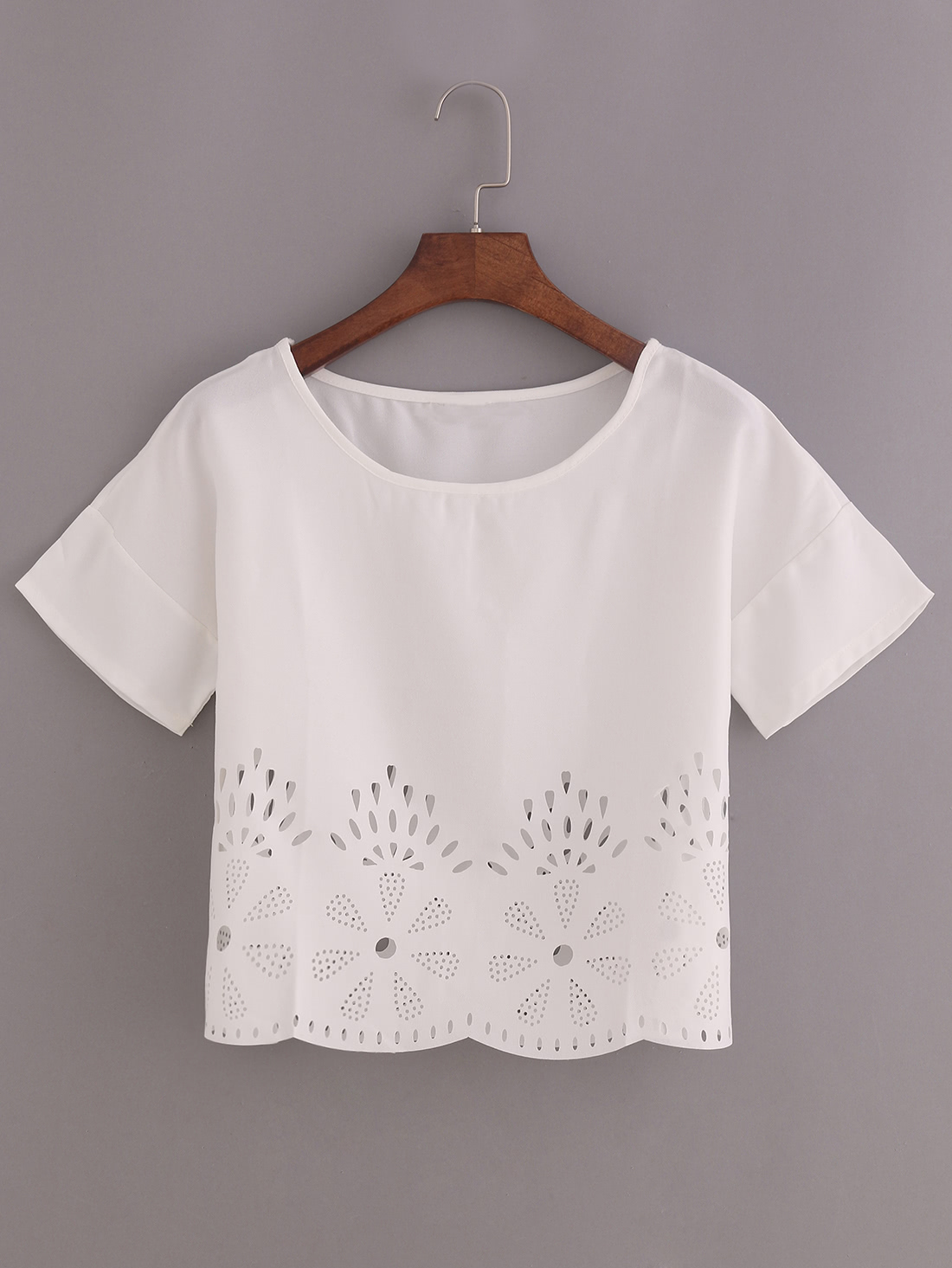 Laser-Cut Loose Fit Top