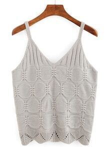 V-Neck Knit Cami Top