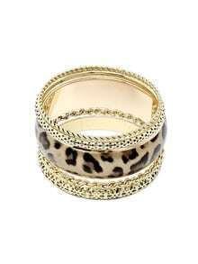 Lepoard Print Alloied Multilayers Bracelet
