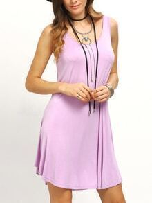 Purple Swing Tank Dress