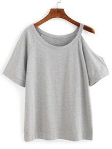 Cutout One-Shoulder T-shirt