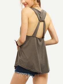 Cutout Racerback Swing Tank Top