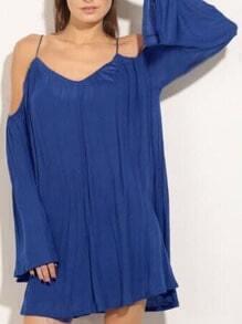 Cold Shoulder Loose-Fit Dress