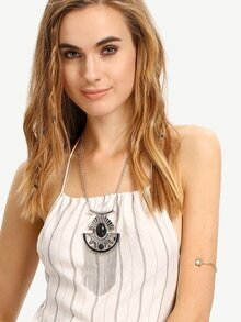 Geometric-Shaped Tassel Vintage Pendant Necklace