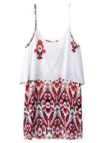 Multicolor Print Spaghetti Strap Dress
