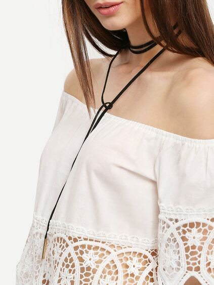 Metal Linear Minimalist Bolo Necklace