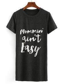 Letter Print Loose-Fit T-shirt Dress