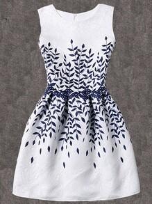 Vestido de llamarada estampado