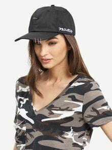 Metal Ring Accent Baseball Hat
