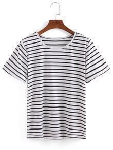 Camiseta manga corta rayas