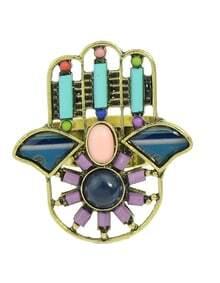 Blue Beads Hand Shape Rings
