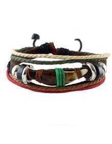 Multilayers Braided Pu Leather Bracelet