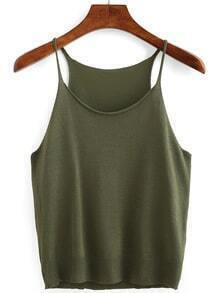 Olive Green Knit Cami Top