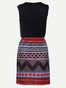 Multicolor Tribal Print 2 in 1 Tank Dress