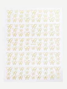 Gold Butterfly Nail Sticker