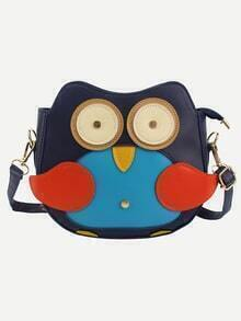 Faux Leather Lovely Penguin Shoulder Bag - Blue
