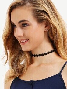 Black Flower Lace Choker Necklace