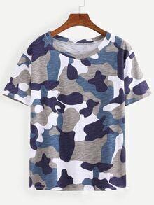 Grey Camouflage T-shirt