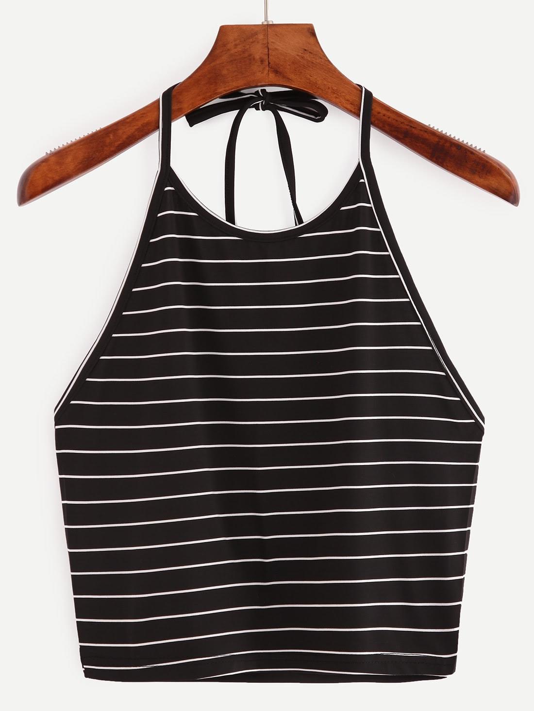 Halter Striped Cami Top