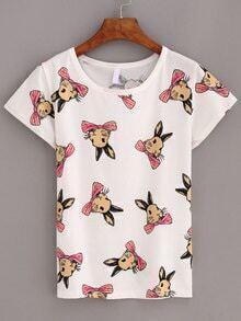 Bunny Print T-shirt - White