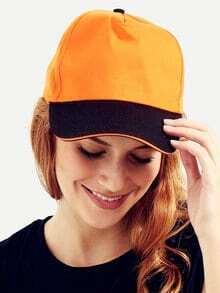 Orange With Black Brim Peak Cap