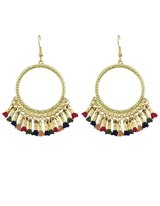 Colorful Tassel Chandelier Earrings