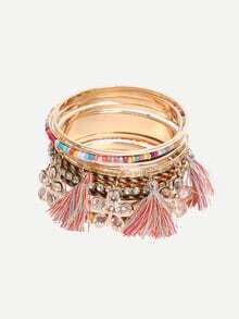 Multilayer Tassel Decorated Vintage Bracelet
