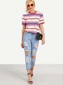 Jeans roto -azul claro