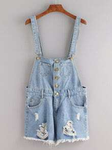 Shorts rotos denim -azul
