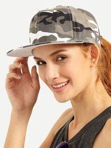 Camouflage Print Hip Hop Baseball Hat
